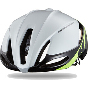 HJC Furion casco per bici, gloss white/green